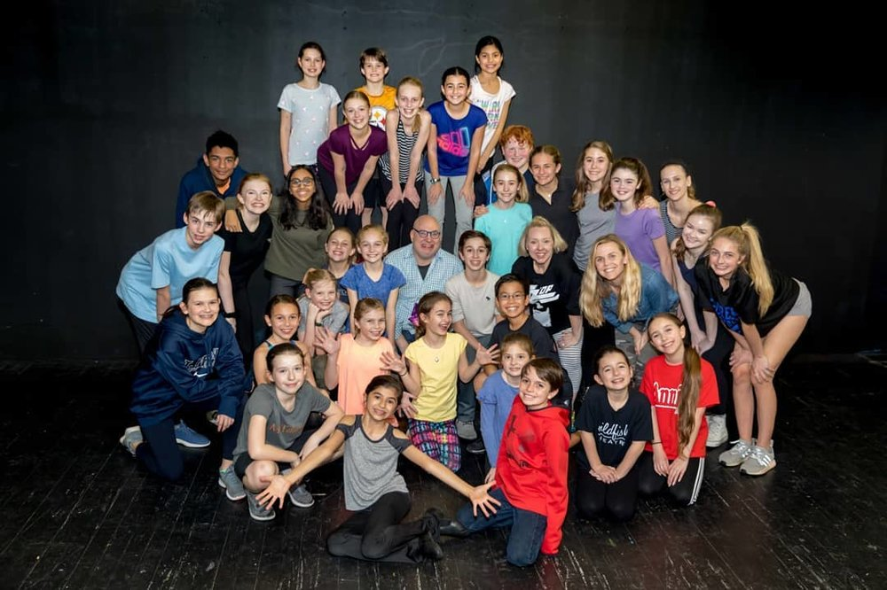 iTheatrics Director of Education Marty Johnson visited Wildfish Theatre the week before their trip to Junior Theater Festival (JTF) West in Sacramento January 7-11, 2019 to help put the finishing touches on our selection from  Oliver Jr.  Wildfish was selected from all attending theatre nationwide to present a main stage iTheatrics New Works Showcase of  Oliver Jr , performing for 2,000 excited fellow musical theatre students and teachers.