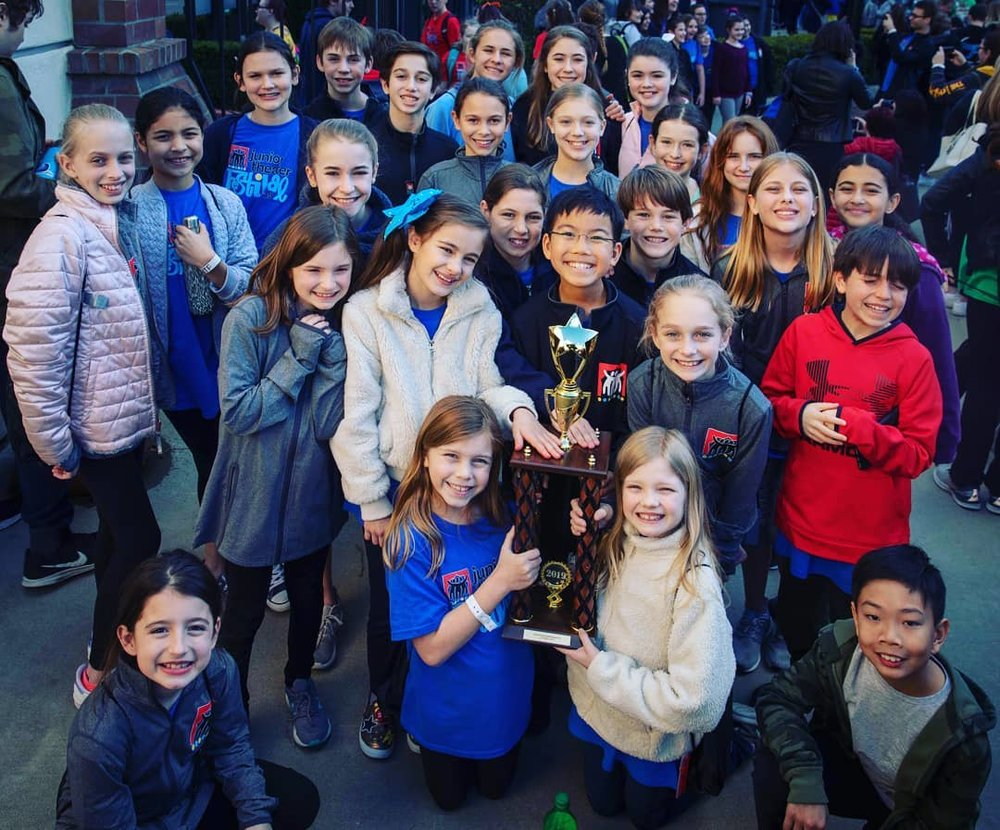 At JTF, the Wildfish troupe of 27 earned Excellence in Dance award for adjudicated performance of Junie B Jones.   Students Apollo Tan and Bianca Ramirez both earned recognition as Performance All-Stars.