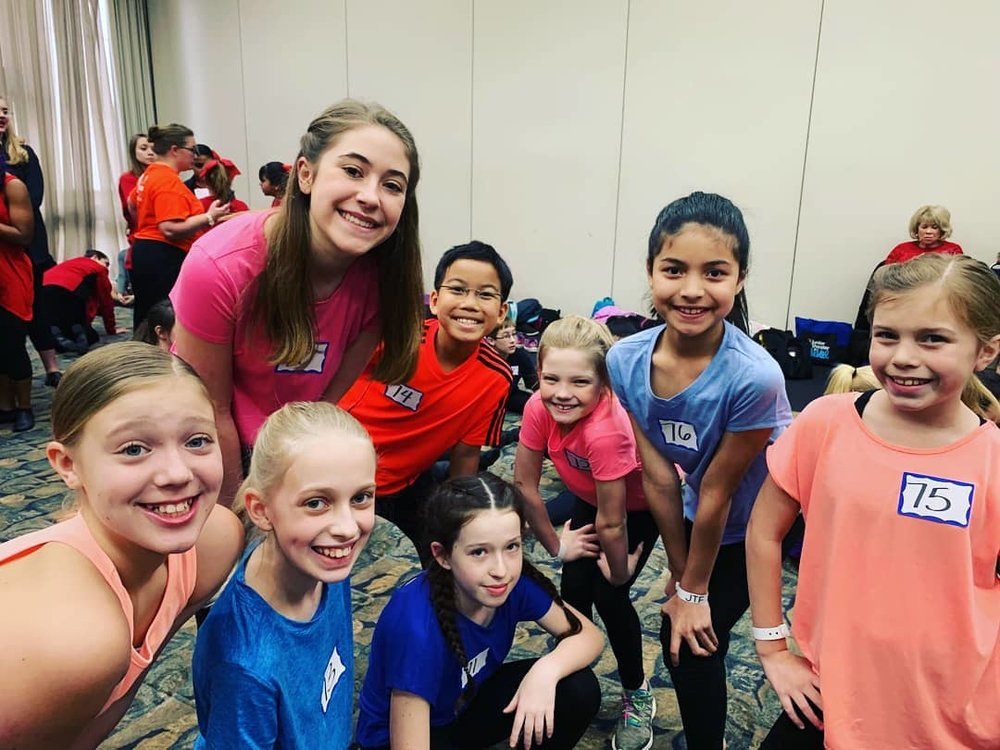 Selected students were invited to audition for Broadway Junior Resident Choreographer Steven G. Kennedy for future Broadway Junior Choreography DVD shoots including Wildfish students .