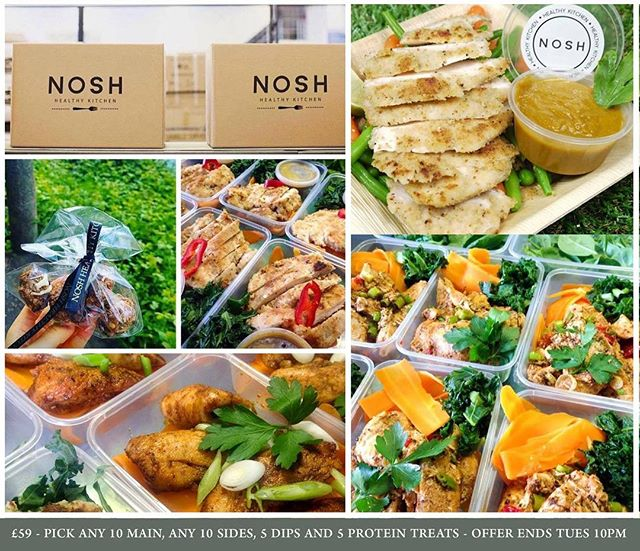 **SPECIAL OFFER - ENDS TUESDAY 10pm** Macro calculated meal packs delivered UK. THIS WEEK ONLY - 5 protein treats instead of 1 with every meal pack (£18 worth of free protein goodies!) www.noshhealthykitchen.com/mealpacks £59 for: - Any 10 mains - Any 10 sides - Any 5 dips - 5 protein treats (normally 1) - Free collection - national delivery also available! £79 for: - Any 15 mains - Any 15 sides - Any 8 dips - 5 protein treats (normally 1) - Free collection - national delivery also available! £99 for: - Any 20 mains - Any 20 sides - Any 12 dips - 5 protein treats (normally 1) - Free collection - national delivery also available!