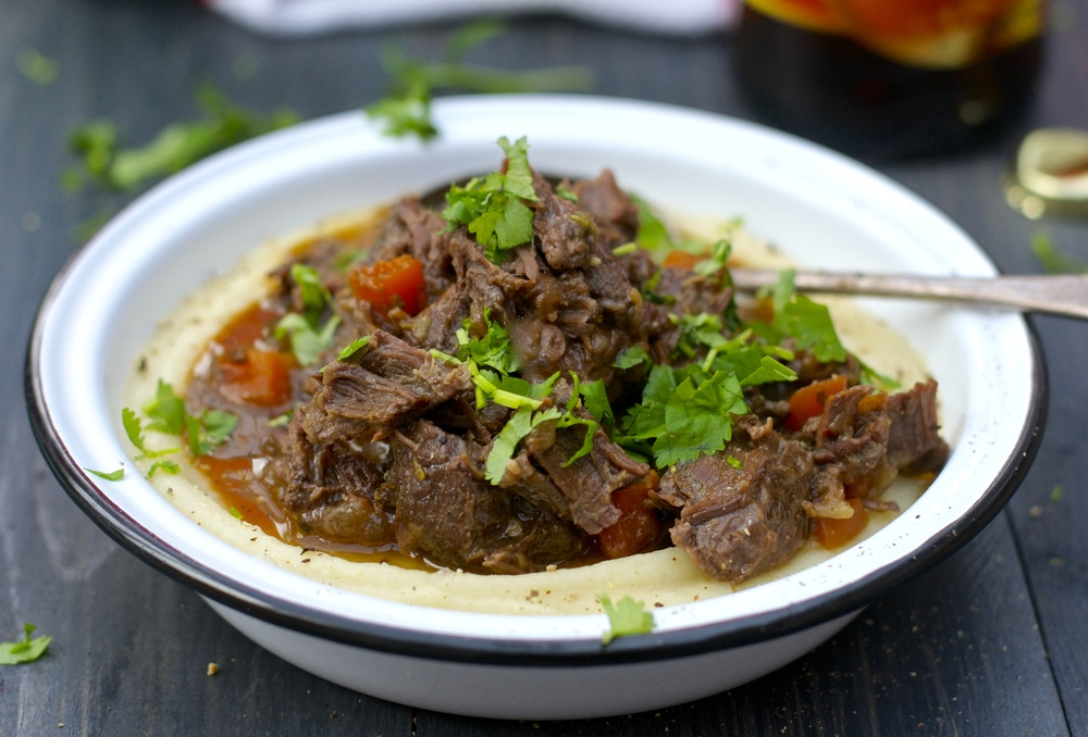 Beer-braised beef cheek