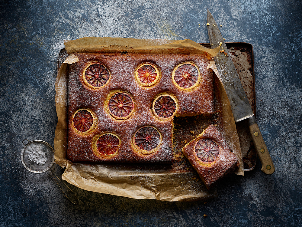 Blood Orange & Almond Cake - Photo Credit: Neil White