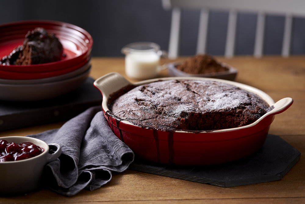 Winter Recipe - Chocolate and Cherry Sponge Pudding Landscape f4.jpg