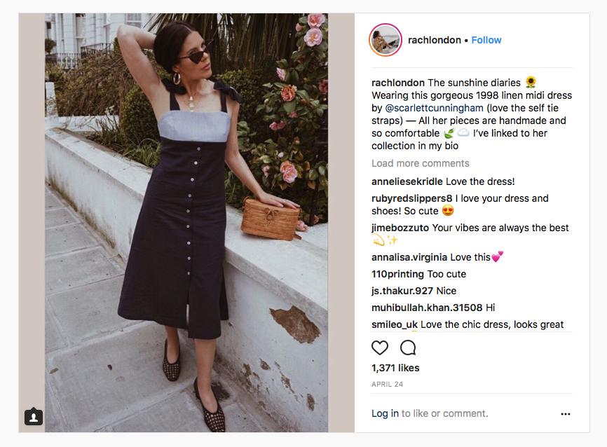 Rachel wears our 1998 Midi Dress.