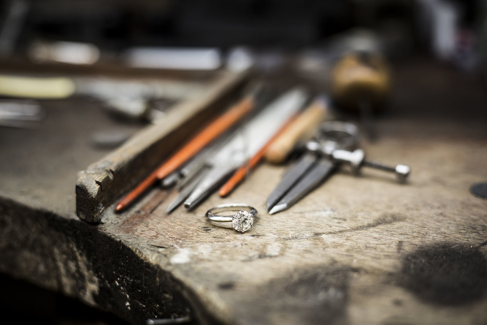 Photographed at the workshop of Lord of London jewellers