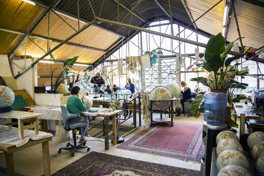 Photographed at Bellerby & Co Globemakers, Stoke Newington