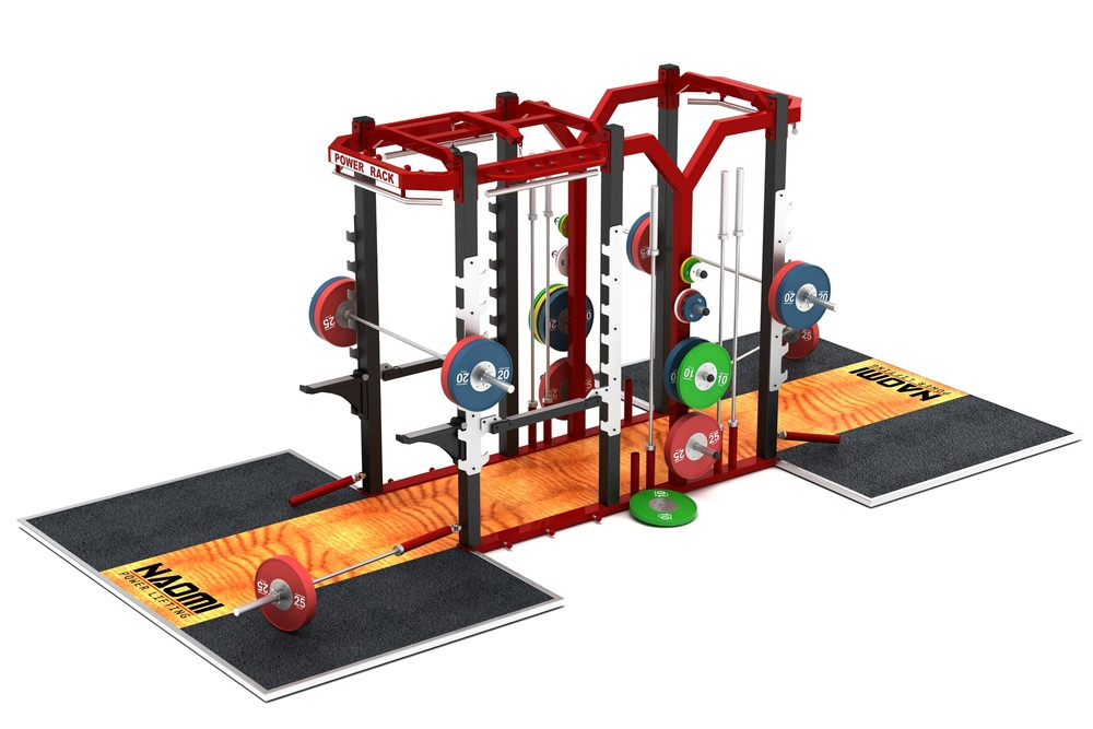 OLYMPIC DUAL HALF + POWER RACK