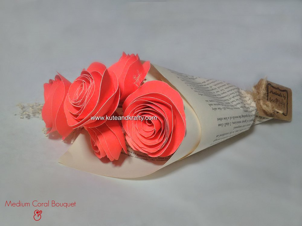 Medium Coral Bouquet