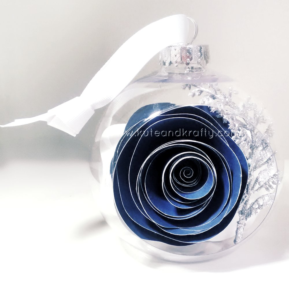 Navy Blue & Silver Ornament - Front