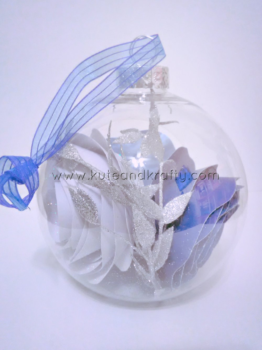 Blue & White Ornament - Back