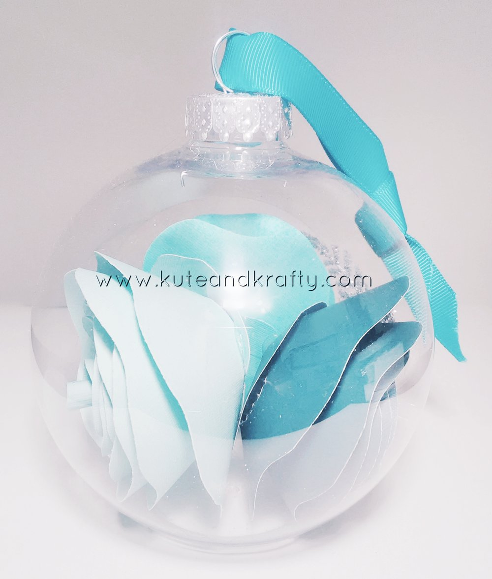 Teal Ornament - Back