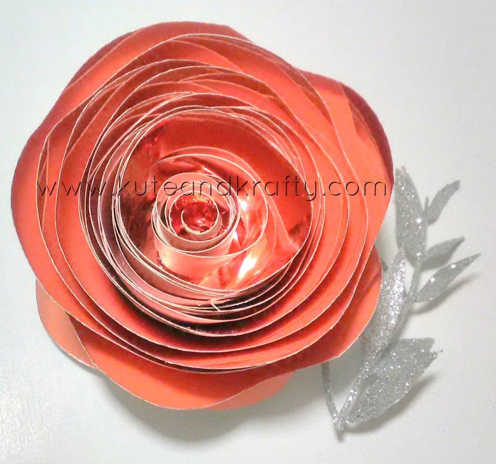 Metallic Paper Flower