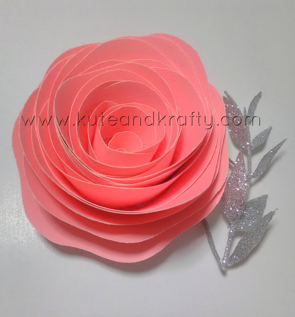 Highlighter Pink Paper Flower