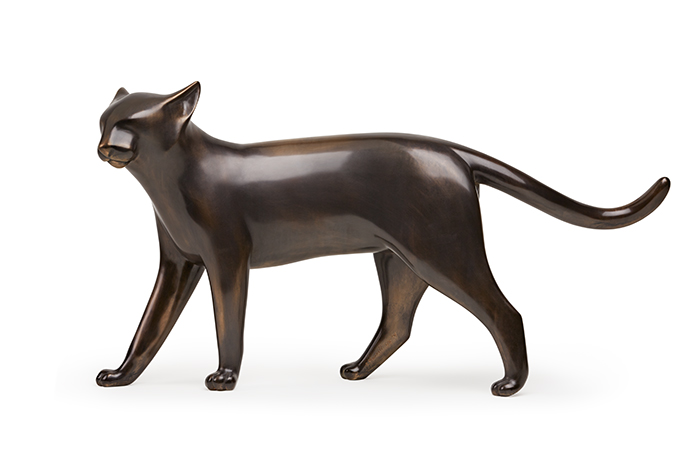 Abu (Blue Cat),  2014 Bronze, edition of 9 7.5 x 34 x 11 inches