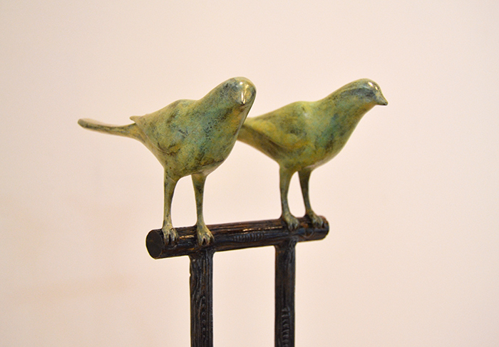 Two Birds ( detail), 2010 Bronze, steel Unique 64 x 9 x 9 inches
