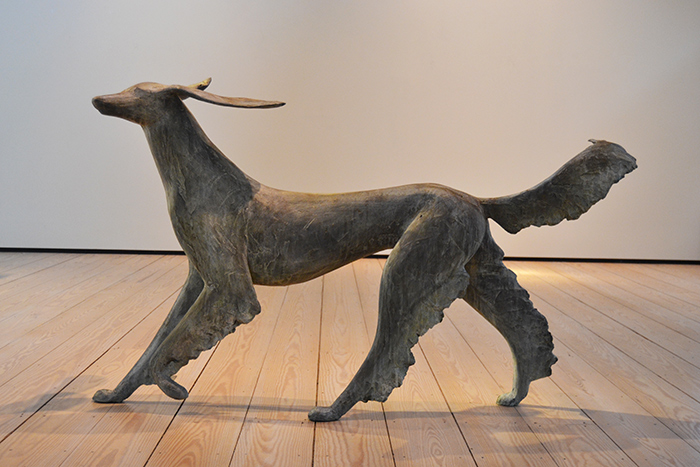 Running Saluki,  2012 Bronze, edition of 6 42 x 77 x 24 inches
