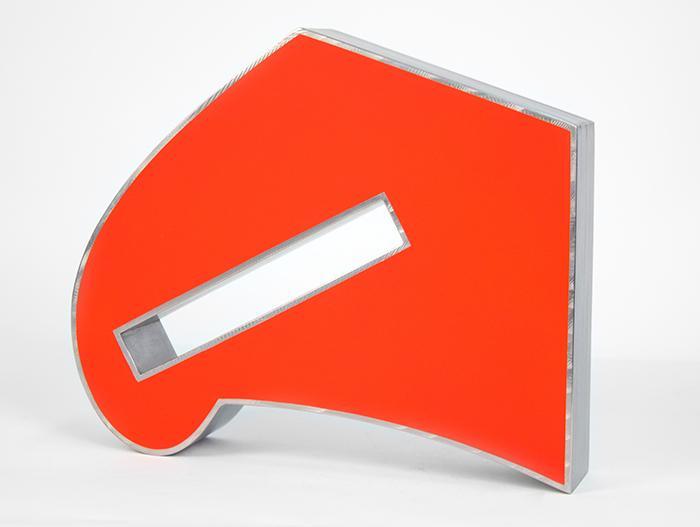 Potrillo,  2013 Stainless steel, polyurethane 12 x 14 x 3 inches