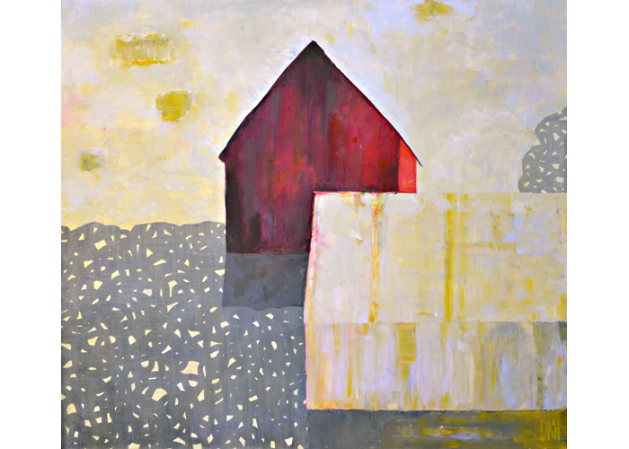 Metal Barn,  2008 Oil on canvas 31 x 35 inches