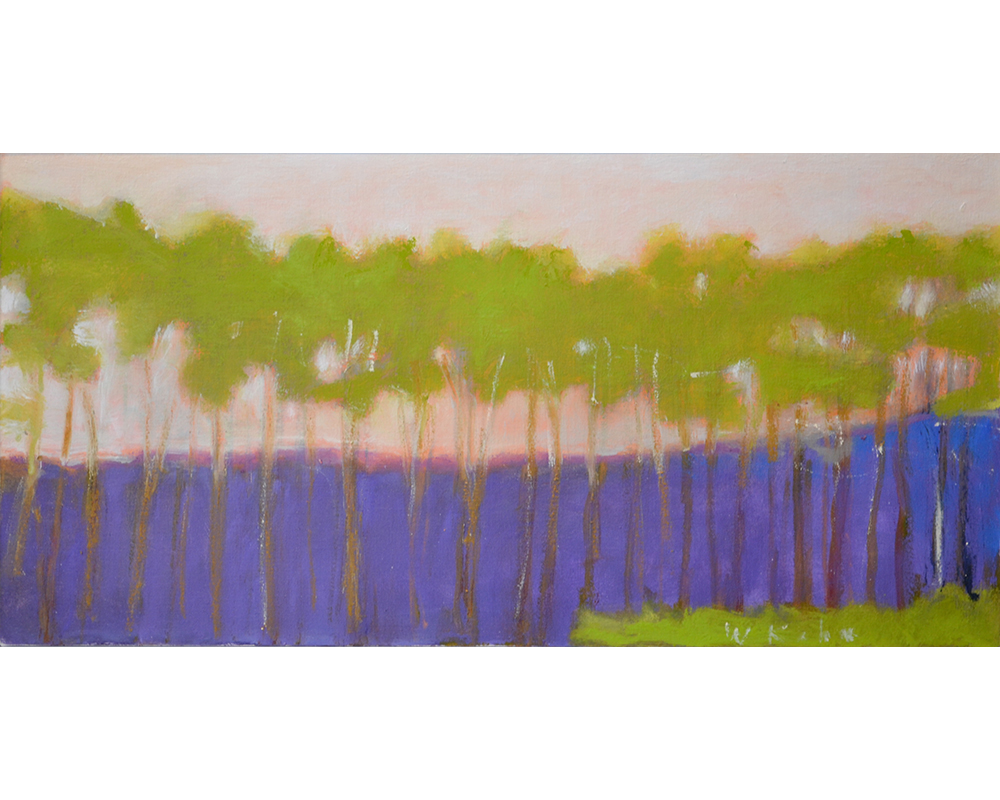 Green Trees,  2011 Oil on canvas 16 x 32 inches