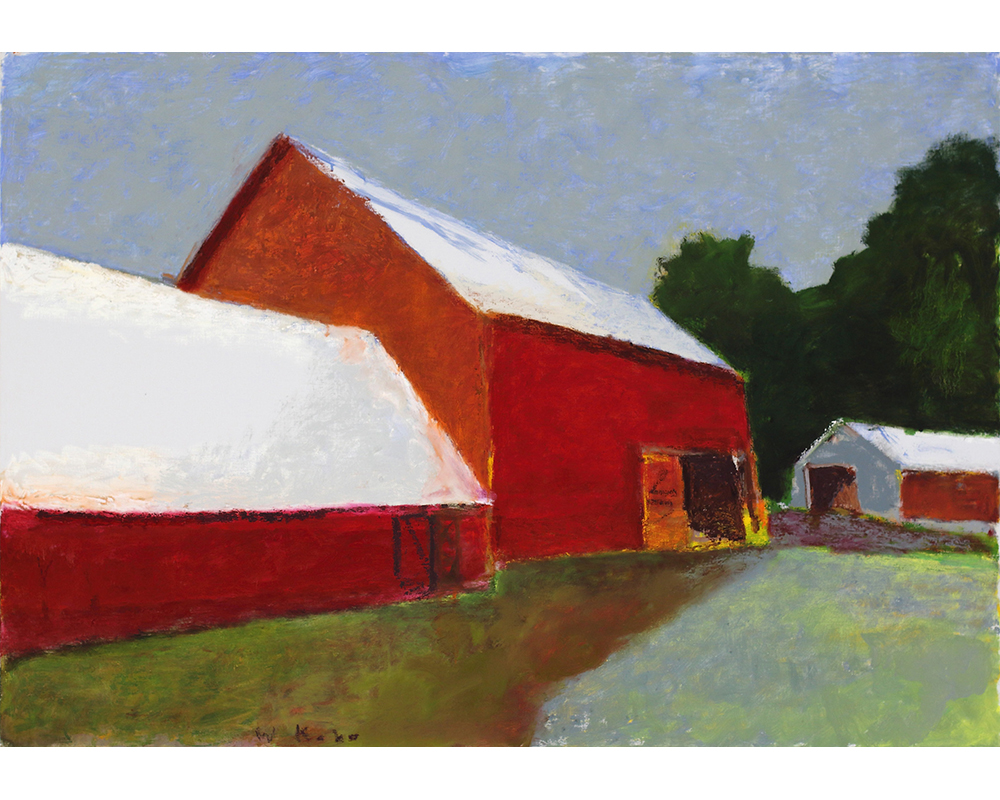 Red Barns , 2013 Oil on canvas 36 x 52 inches