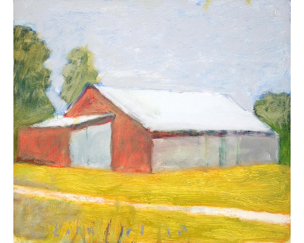 Gray Barn Doors II,  2010 Oil on canvas 17 x 20 inches