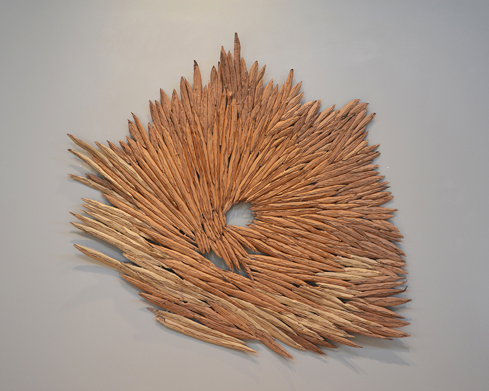 Plated and Cut,  2013 Cardboard 77 x 82 x 3 inches