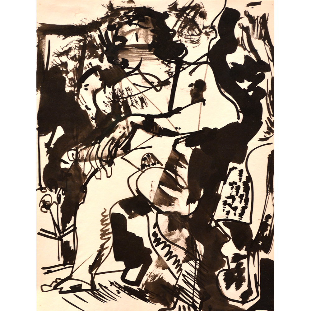 Untitled,  1935 India ink on paper 11 x 8.5 inches