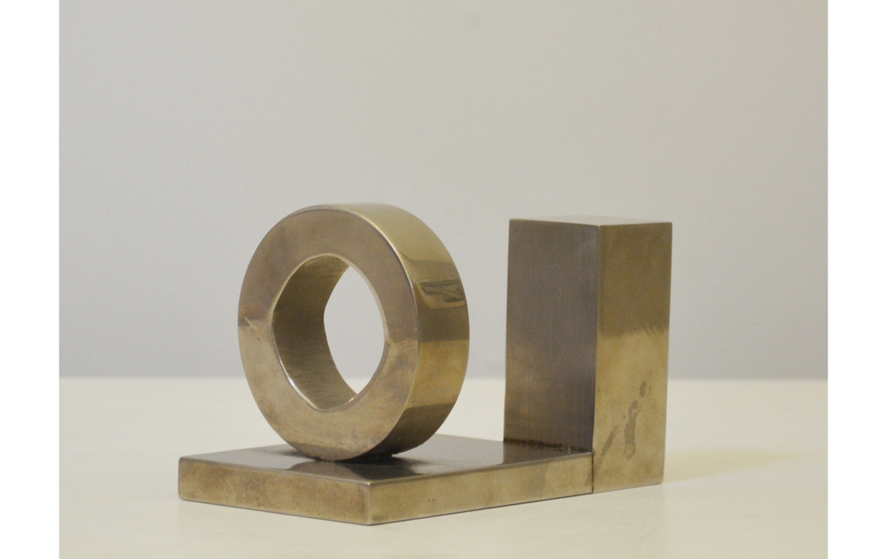 Untitled,  1968 Silver plate 1 of 3 3.5 x 5.25 x 3 inches
