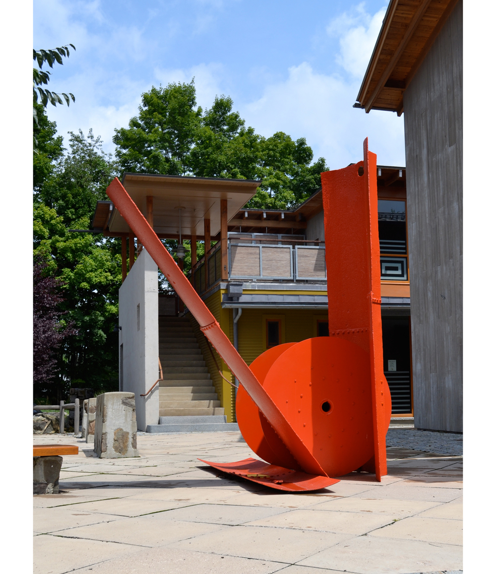 Offering,  c.1965 Painted steel 126 x 115 x 114 inches