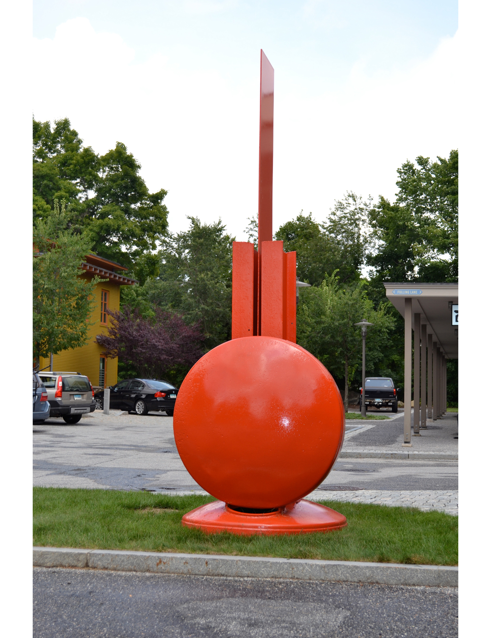 Tabernacle,  1966 Painted steel 144 x 60 x 60 inches