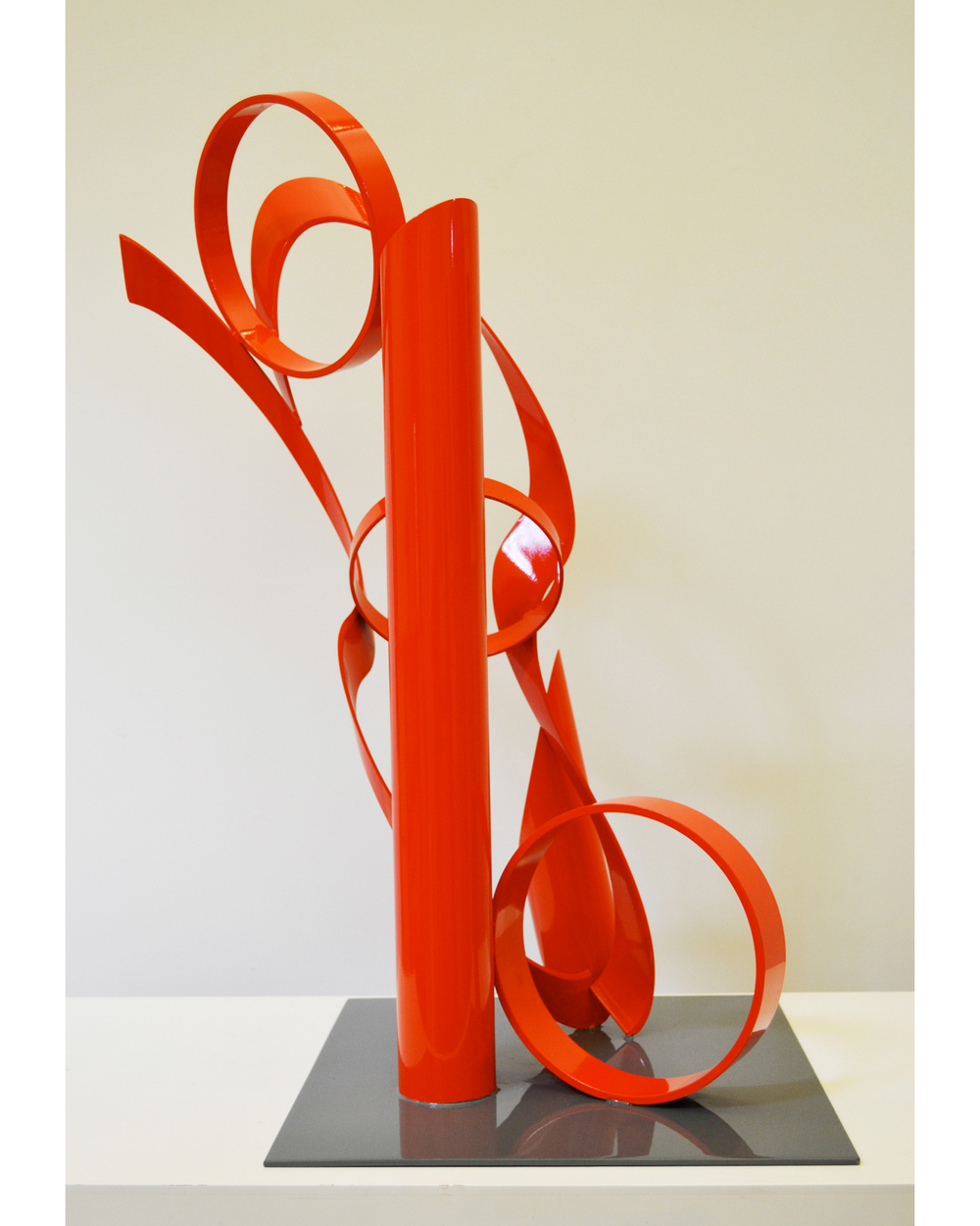 Twister,  1997 Painted steel Unique 31 x 15 x 16 inches