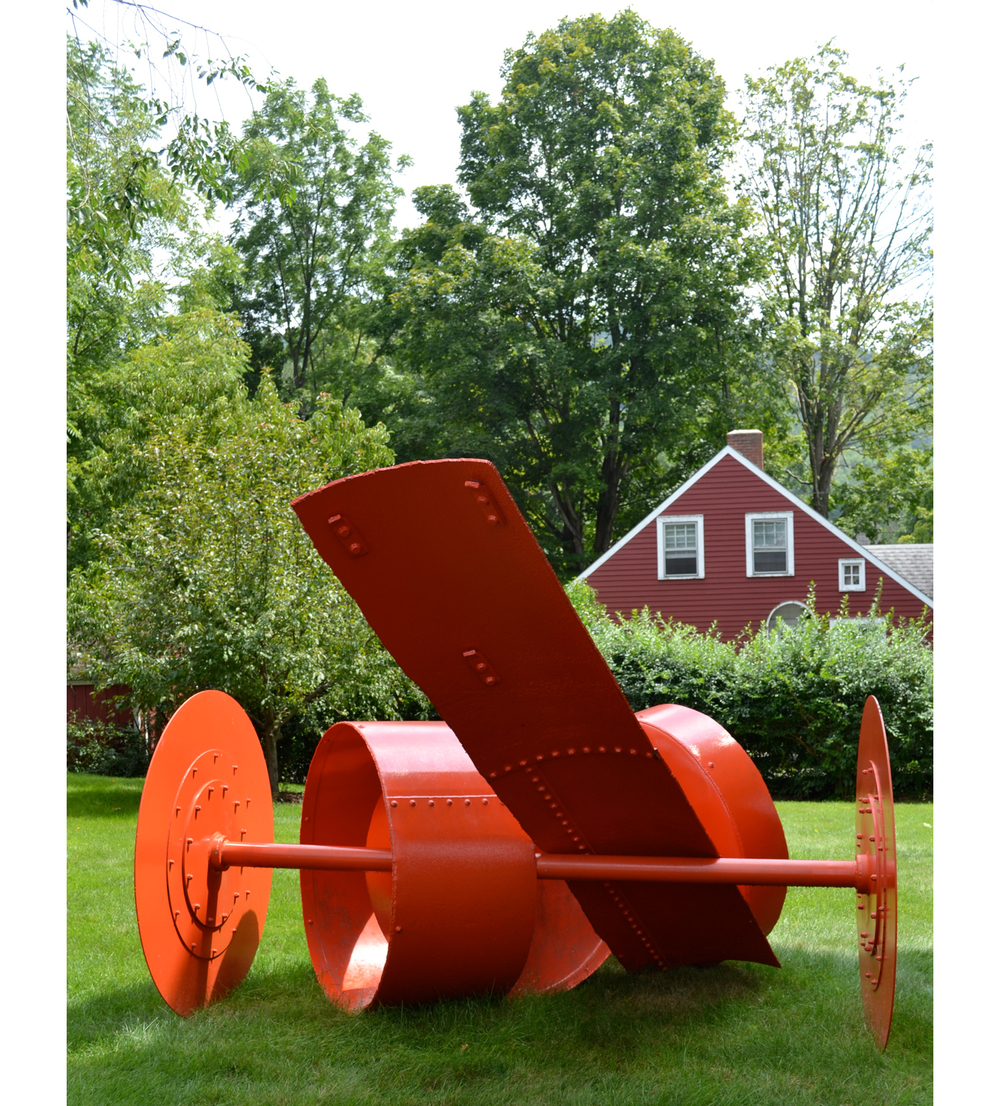 Realm,  1996 Painted steel 81 x 125 x 102 inches