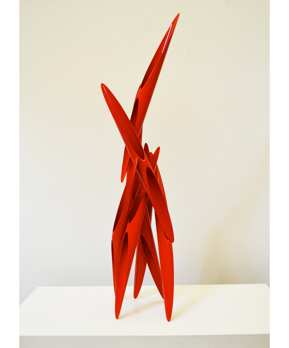 Untitled, From Aim Series,  1980 Painted steel 44 x 13 x 13 inches