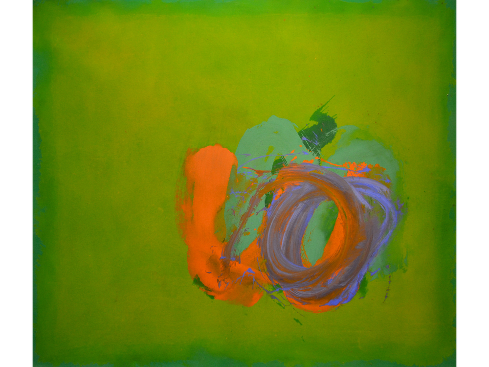 Perne #25,  1978 Acrylic on duck 57 x 65 inches