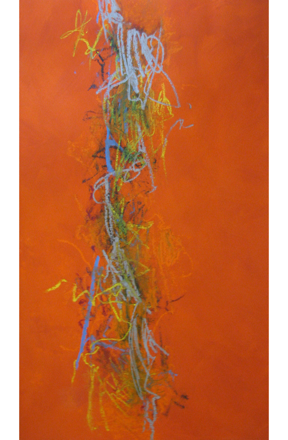 Jacob's Ladder,  2004 Mixed media 35 x 68 inches
