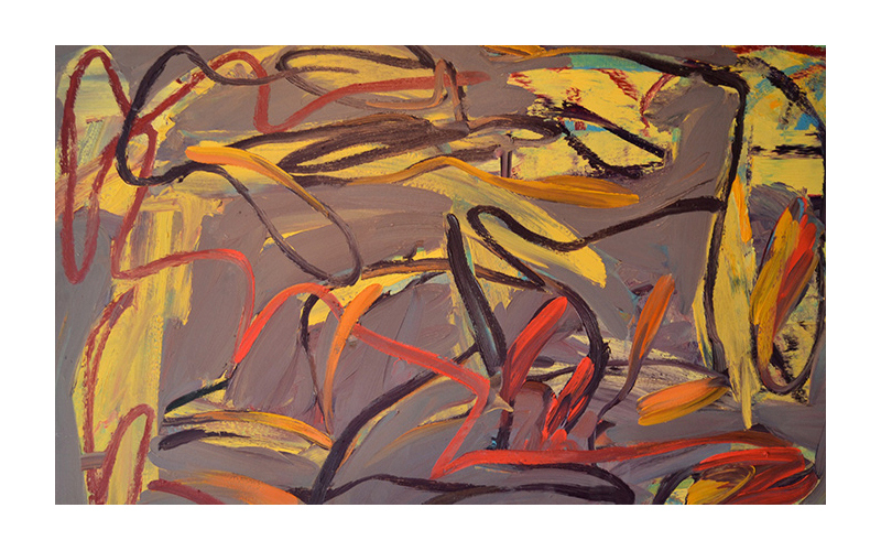 Grey Gatherer,  2011 Oil on canvas 36 x 60 inches