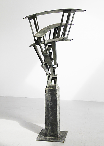 Reaching Level,  2013 Bronze Unique 72 x 32 x 27 inches
