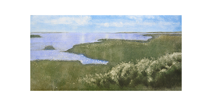 Camden, Maine,  2012 Monotype on paper 12 x 24 inches