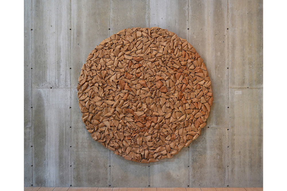 Circle #9 Rocks,  2009 Cardboard 82 x 82 x 4 inches