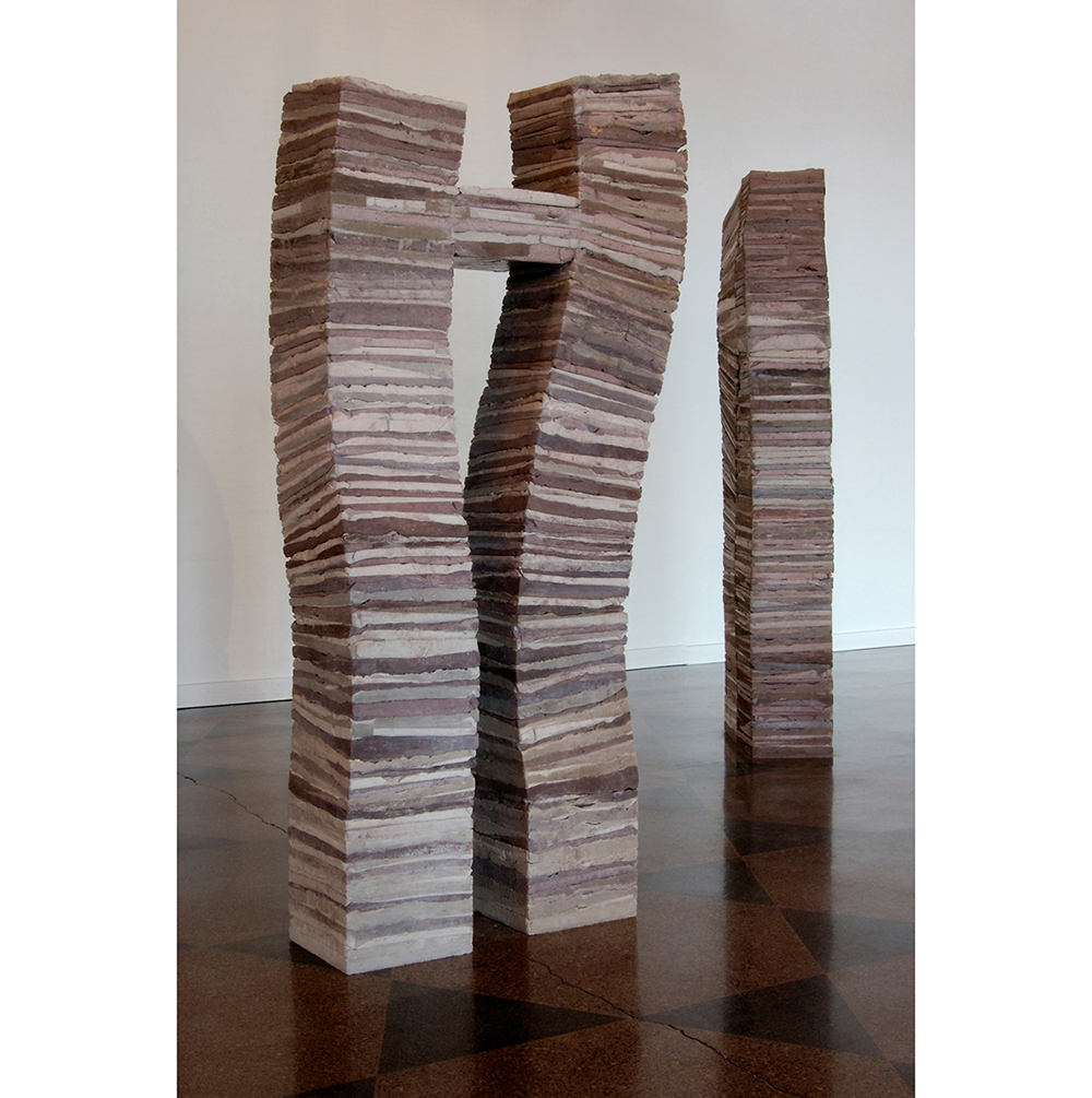 Stacks B and D,  2007 Concrete 64 x 35 x 10.5 inches