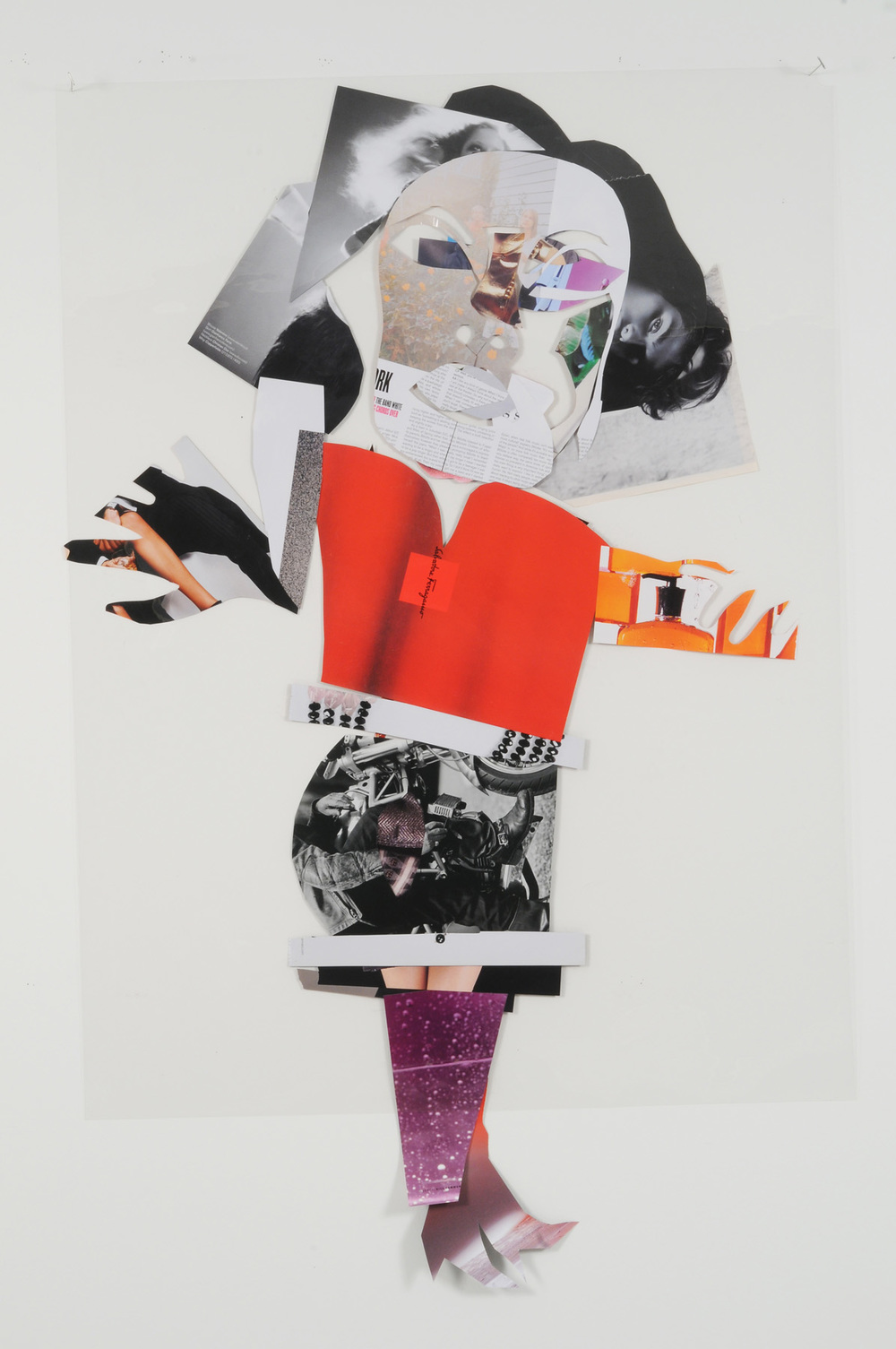 Secret Sylvia (Back),  2007 Collage on acetate 44 x 30 inches