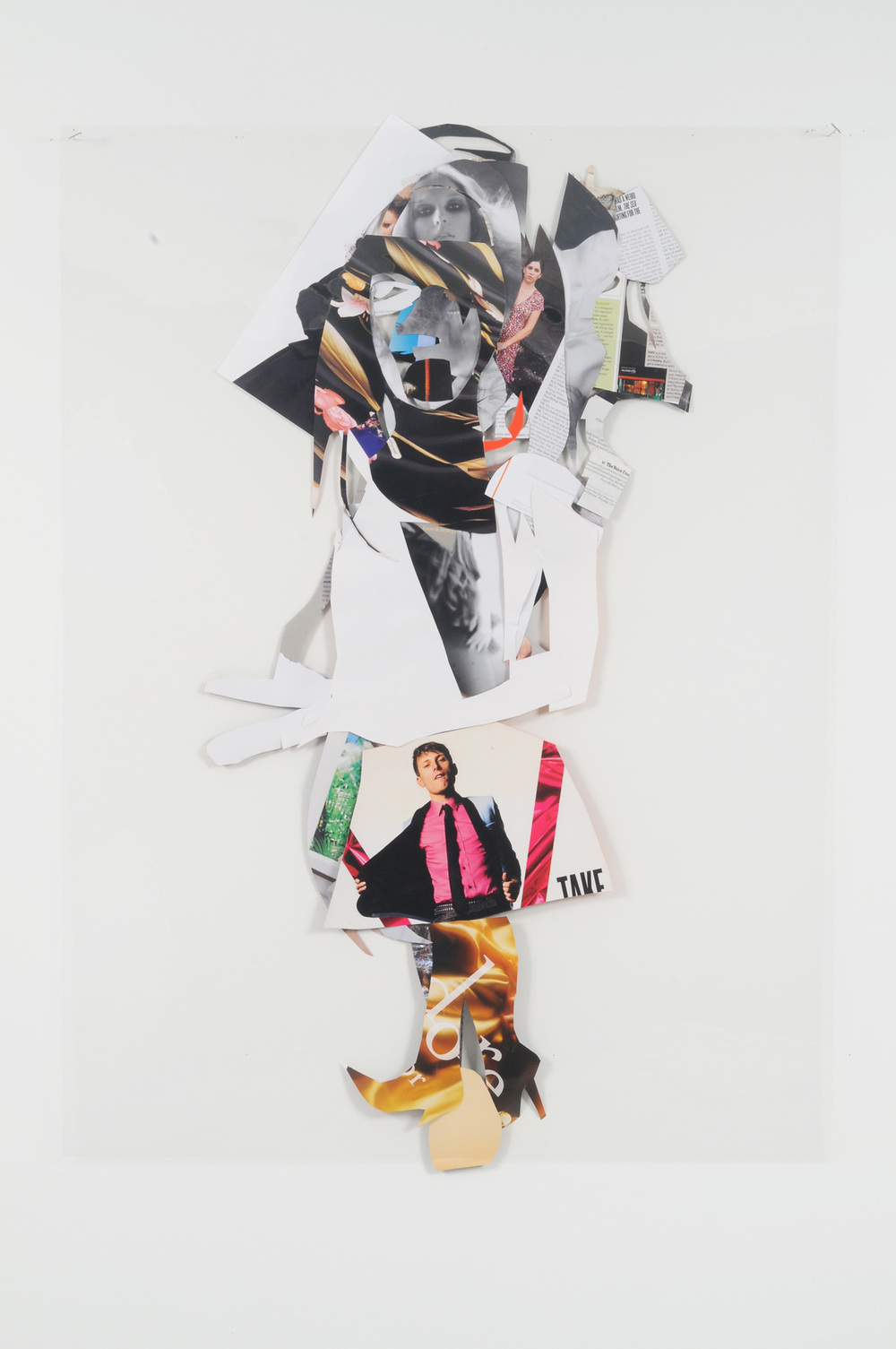 My Eyeline (Back),  2009 Collage on acetate 44 x 30 inches