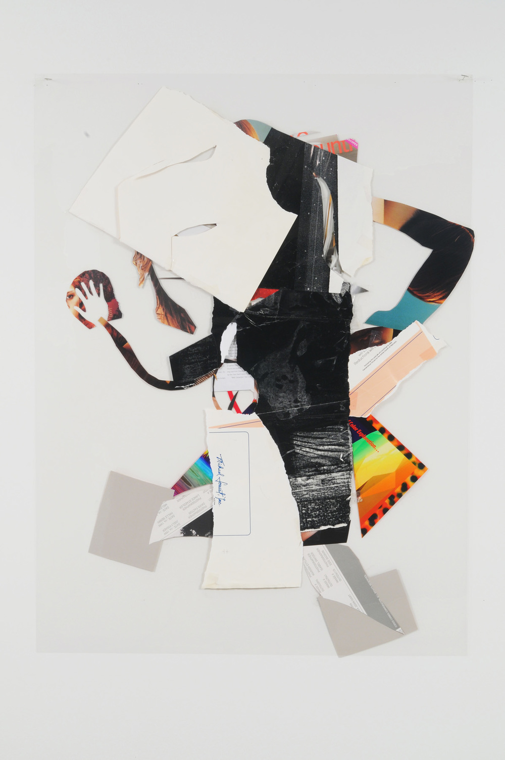 Two Face Frankie (Back),  2009 Collage on acetate 44 x 30 inches