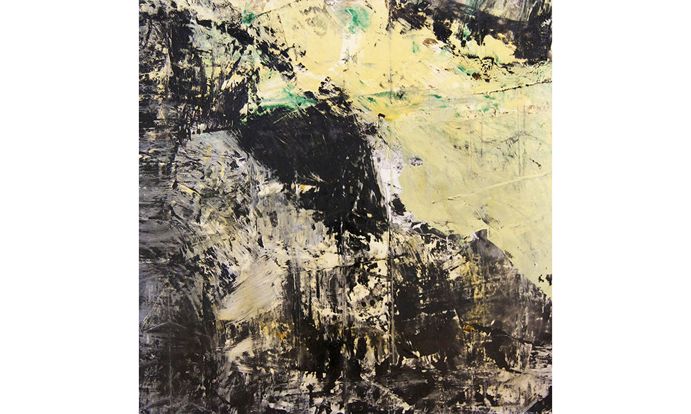 FIGUERES 4  Mixed media on canvas 72 x 72 inches