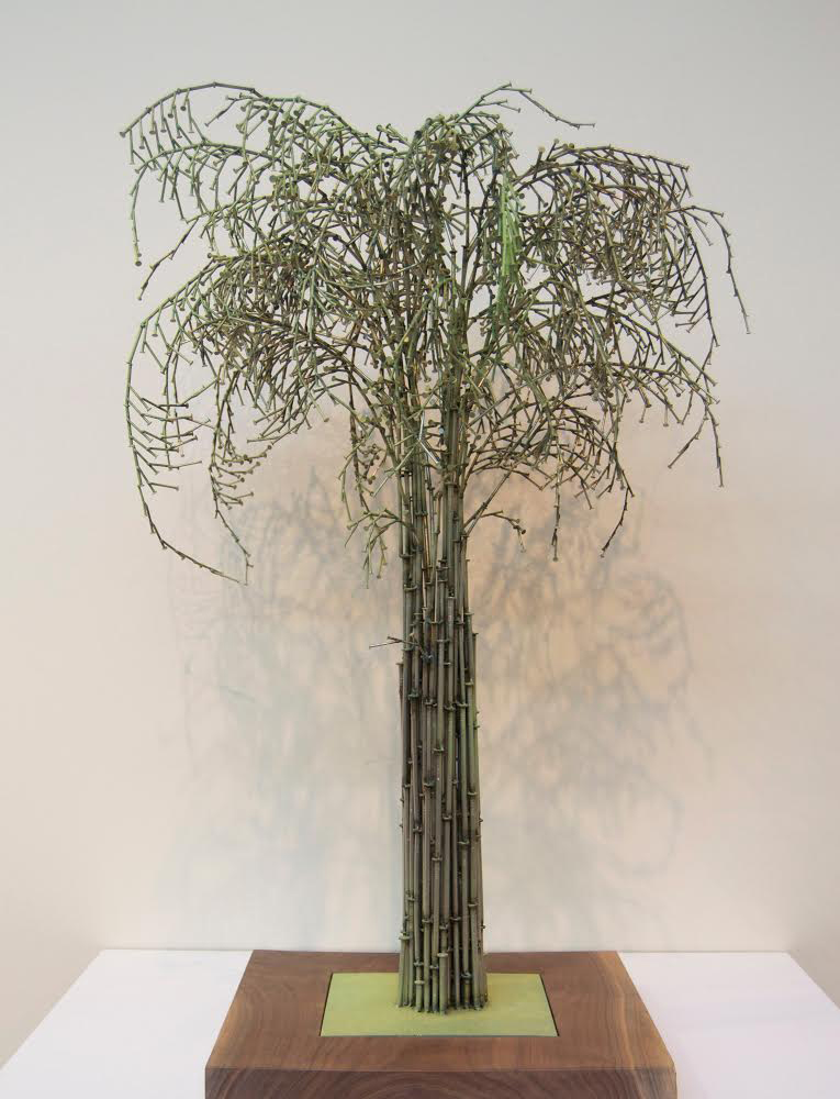 April Mist,  2015 Stainless steel nails and paint Unique 33 x 19 x 19 inches
