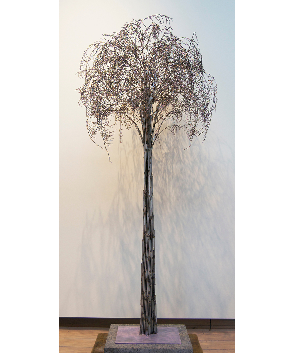Weeping Cherry,  2015 Stainless steel nails Unique 90 x 44 x 42 inches