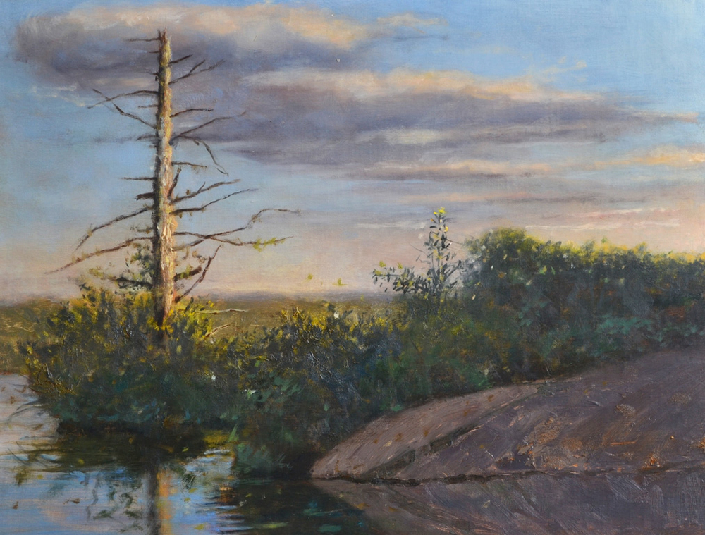 Above All State Park, Warren,  1960 Oil on canvas 14 x 18 inches