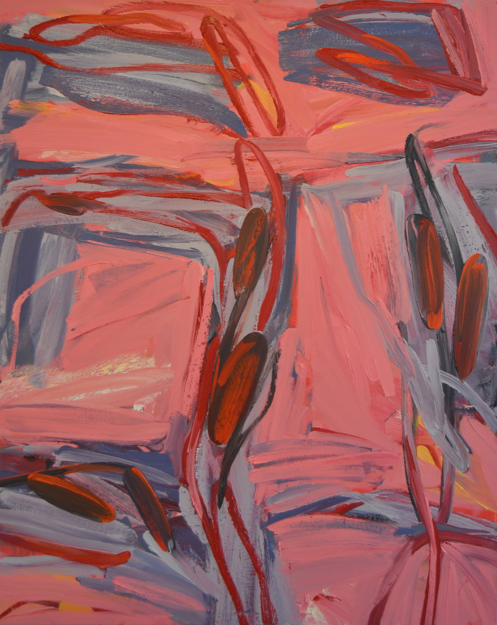 In the Pink,  2016 Oil on canvas 50 x 60 inches