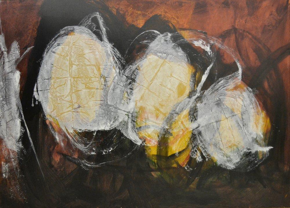 Maya ,1988 Acrylic on canvas 0 x 70 inches