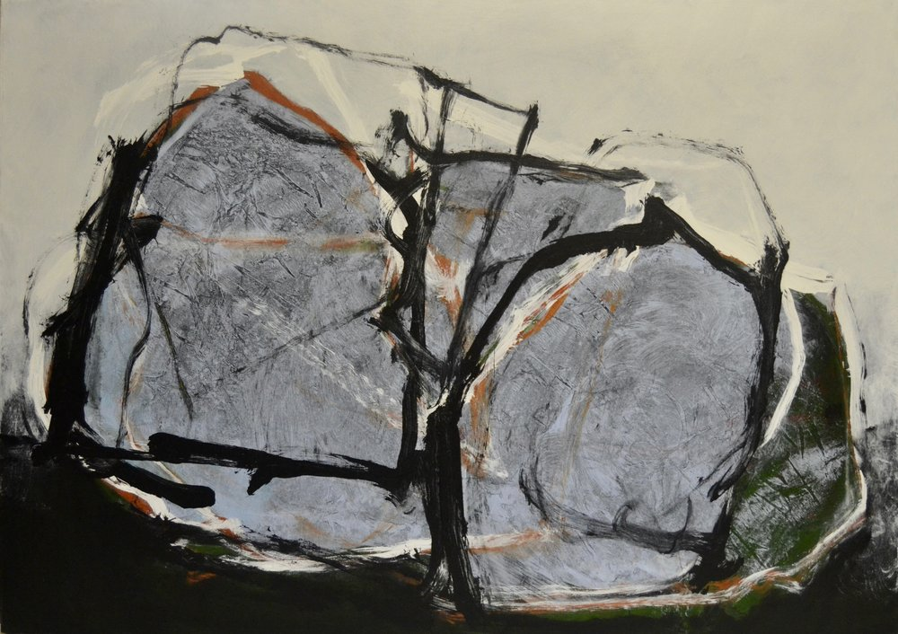 Each Other, 1979 Acrylic on canvas 107 x 69 inches